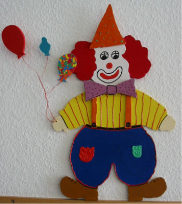 Clowns - Fensterdeko karneval ...